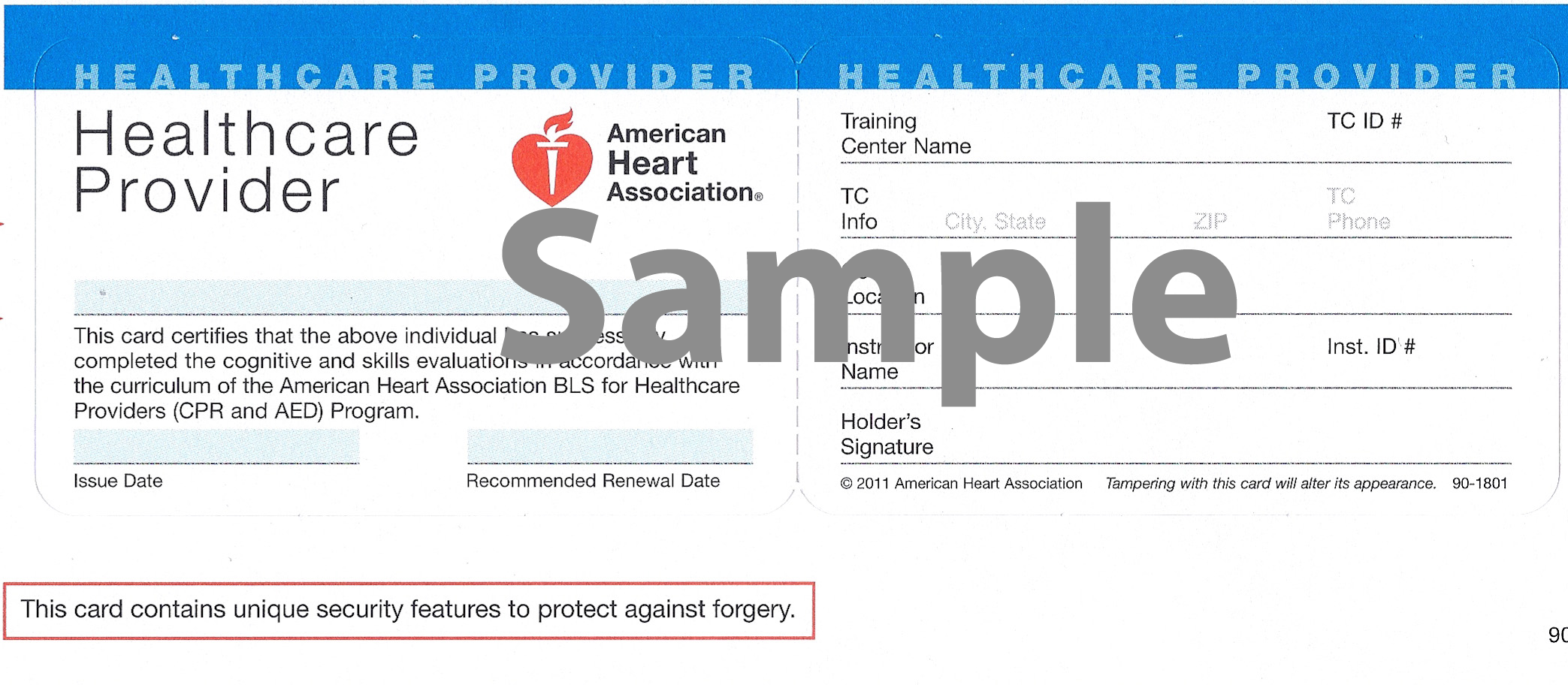 Sample of cpr card first aid pinterest cpr card certificationsstate licensures facilities will require frontback signed copies of all your certifications and state licenses xflitez Images
