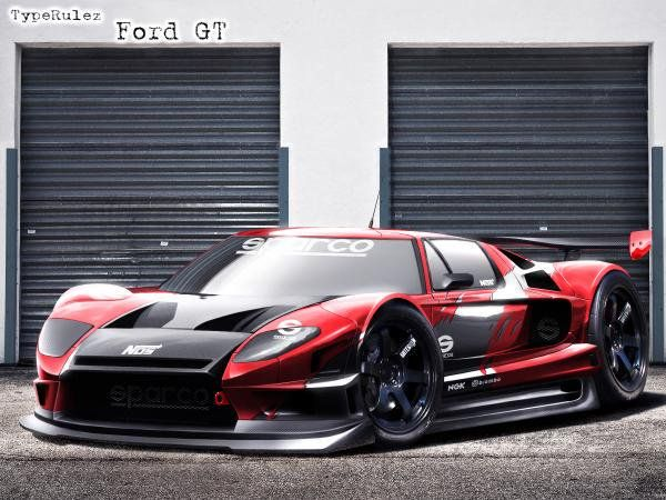 Ford Gt With A Body Kit