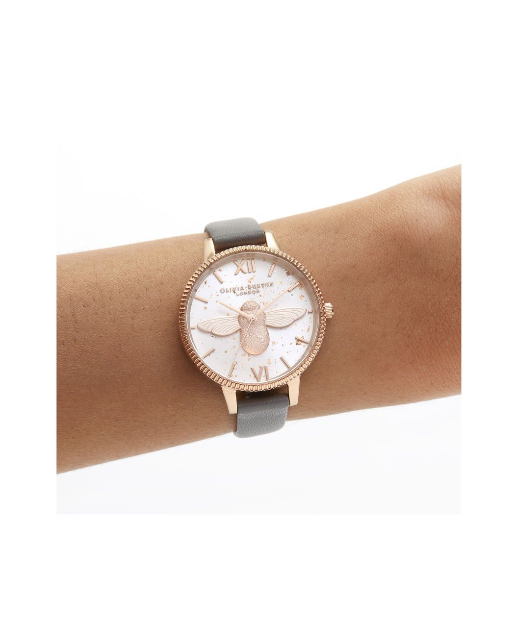 d1163fa5bbd0 OLIVIA BURTON LONDON Celestial 3D Bee Demi Dial WatchOB16GD06 – Demi Dial  in grey and Rose Gold - Other view