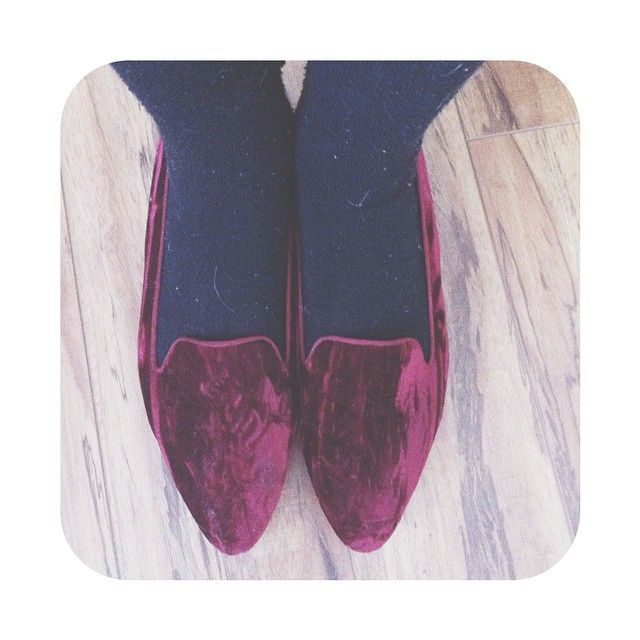beautiful velvet flats, velvet is my favourite thing ever