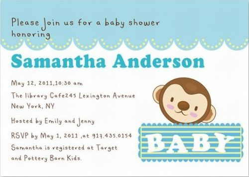 How To Write Your Baby Shower Invitation Wording