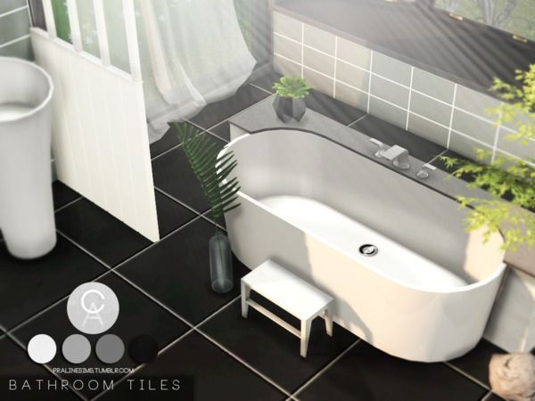 Bathroom Tiles by Pralinesims at TSR • Sims 4 Updates | Sims 4 cc ...