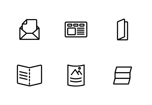 Leaflet Paper Icons By Vector Win Leaflet Business Icons Design Paper
