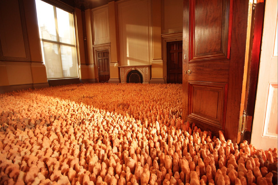 Amazonian Field, Antony Gormley. Royal Academy of Arts. Exposition « Earth: Art of a Changing World », décembre 2009, Londres.
