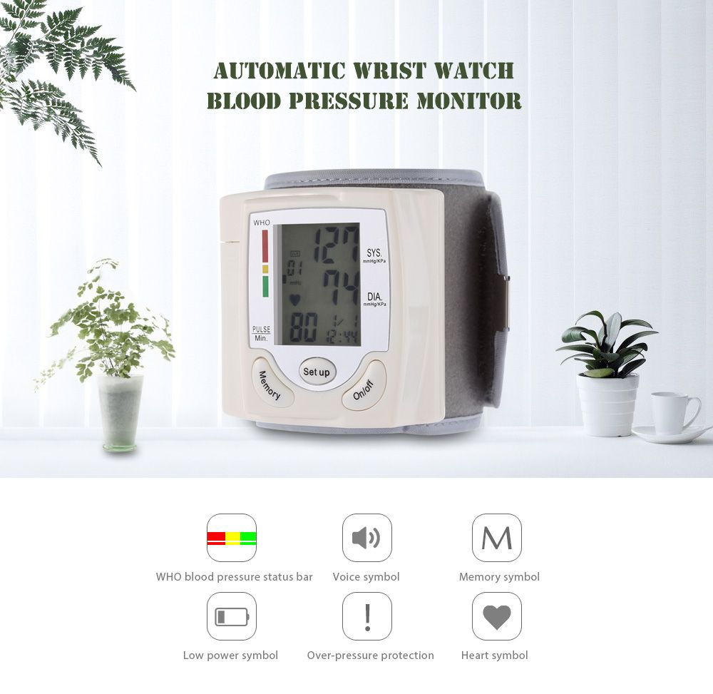 Blood Pressure Monitor Rosyxandy Digital Automatic Wrist Blood