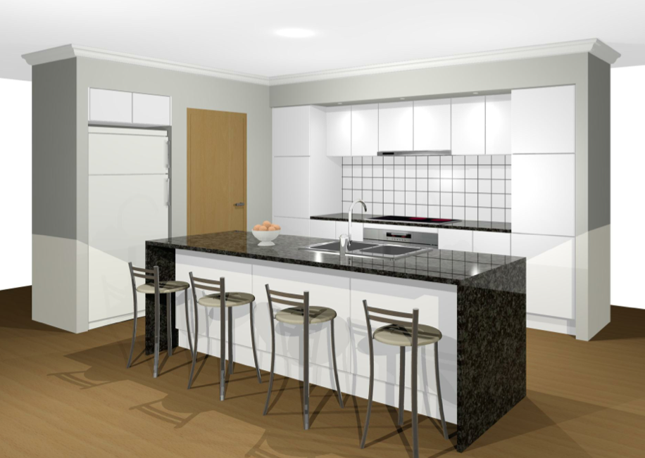 White Kitchen Black Benchtop galley white kitchen with black benchtops - google search