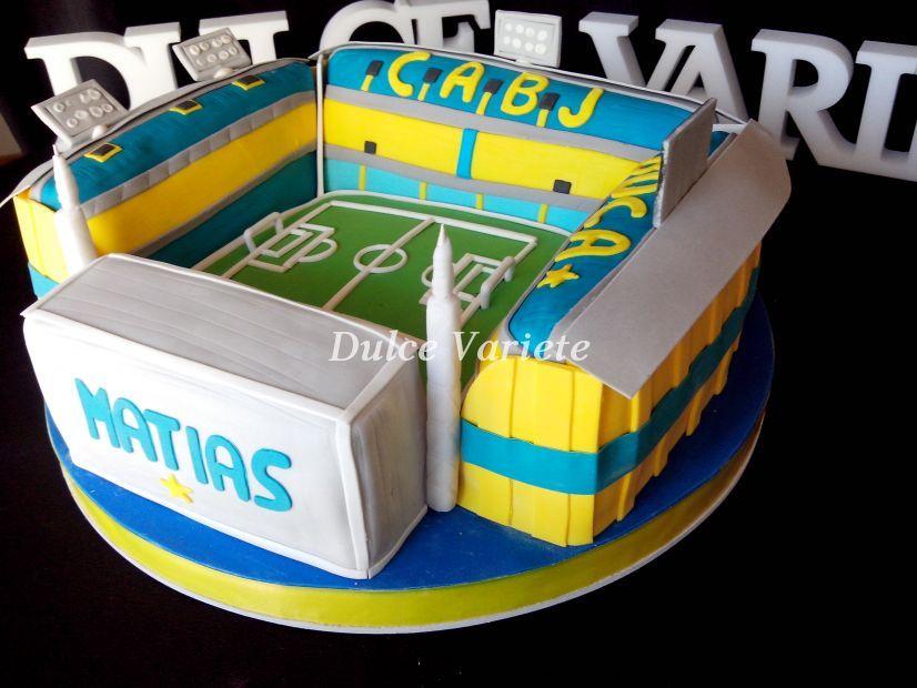 Torta de la cancha de boca juniors tortas creativas para for Puerta 2 cancha de boca