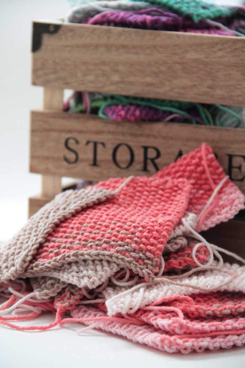 Projekt leden   únor - pletená deka ve stylu patchwork - 1. část ... 13ee4f2b9f