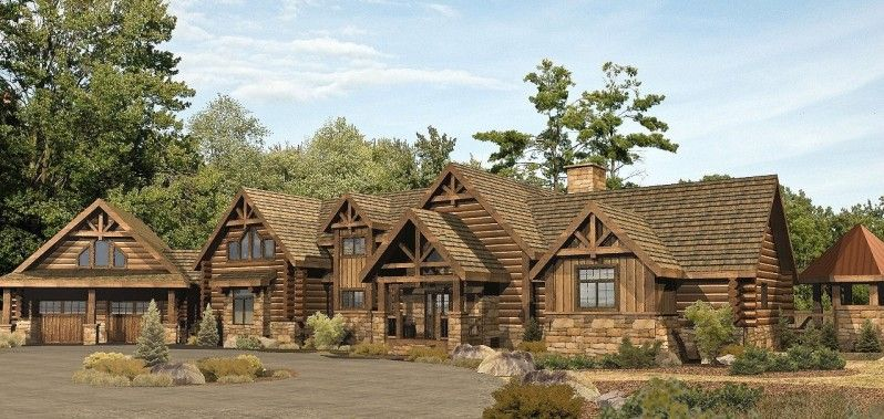 Herrington Point - Log Homes, Cabins and Log Home Floor Plans ...