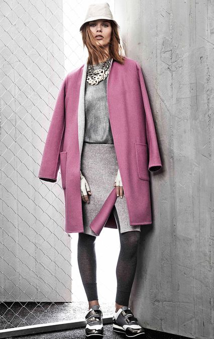 Best Look at Max Mara Resort 2015. More Best Looks Resort 2015.  More Pink Coat Fashion Trend for Fall Winter 2014. More Leggings Fashion Trend for Fall Winter 2014.