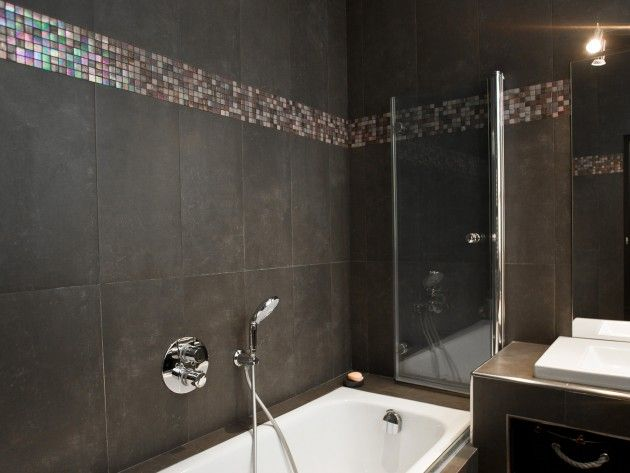 Salle de bain avec mosaïque effet petrole   couleur   Pinterest ...