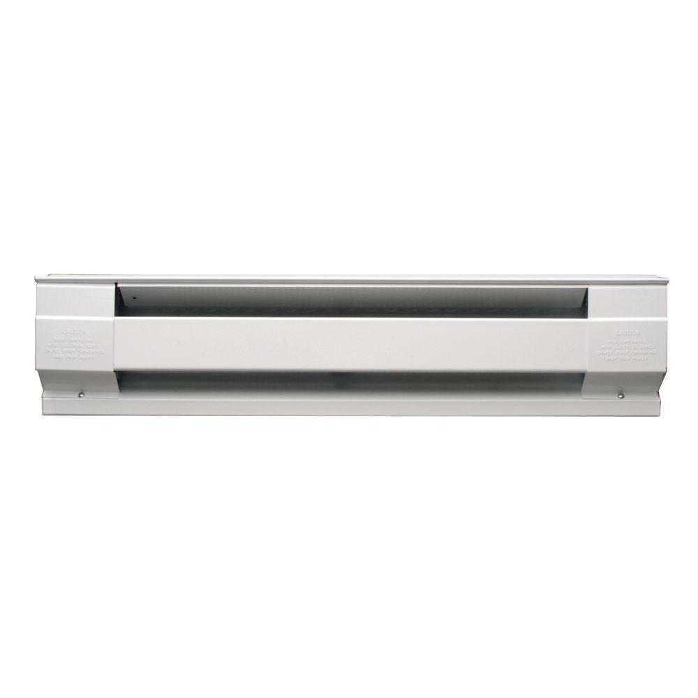 Cadet 48 In 1 000 Watt 120 Volt Electric Baseboard Heater In White 4f1000 1w The Home Depot Baseboard Heater Electric Baseboard Heaters Baseboard Heating