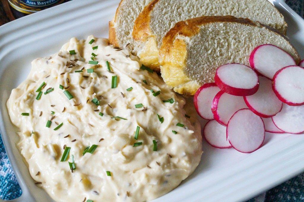 obatzda- delicious cheese spread for pretzels