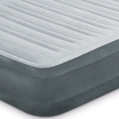Used Twin Intex PVC Dura-Beam Series Mid Rise Airbed w// Built In Electric Pump