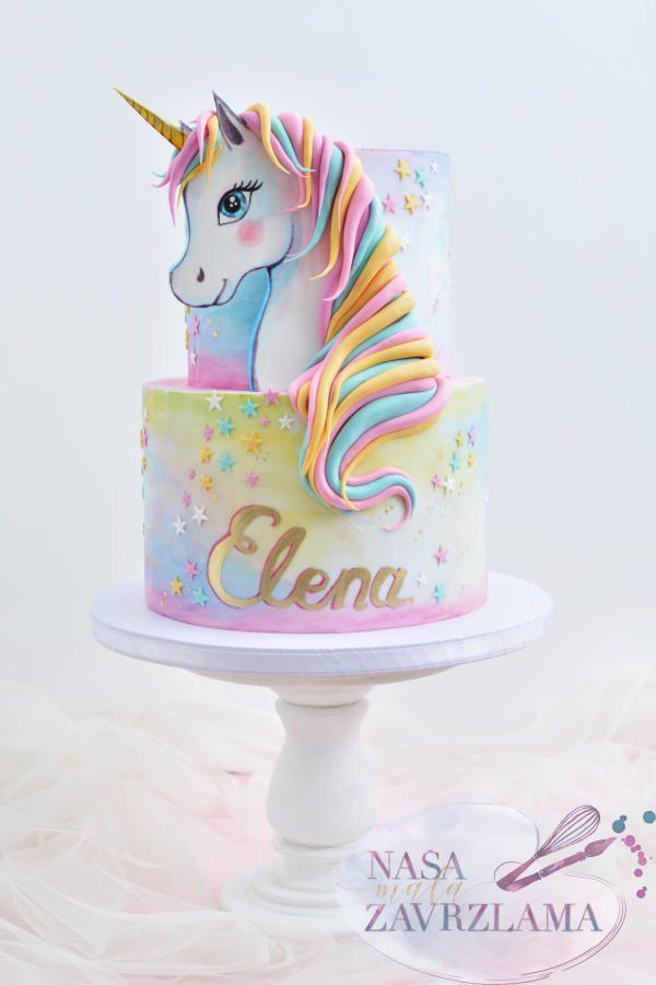 Unicorn Cake By Nasa Mala Zavrzlama Idée Gateau
