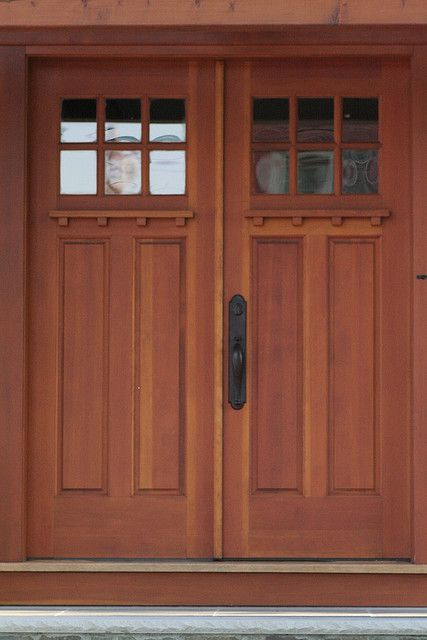 Craftsman double front door images for Double front entry doors