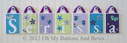 nojo beautiful butterfly | Personalized Name Nursery Wood Block Letters NoJo Beautiful Butterfly ...