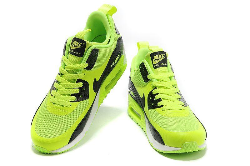 £74.99 Nike Air Max 90 Womens SneakerBoot NS Volt Black White