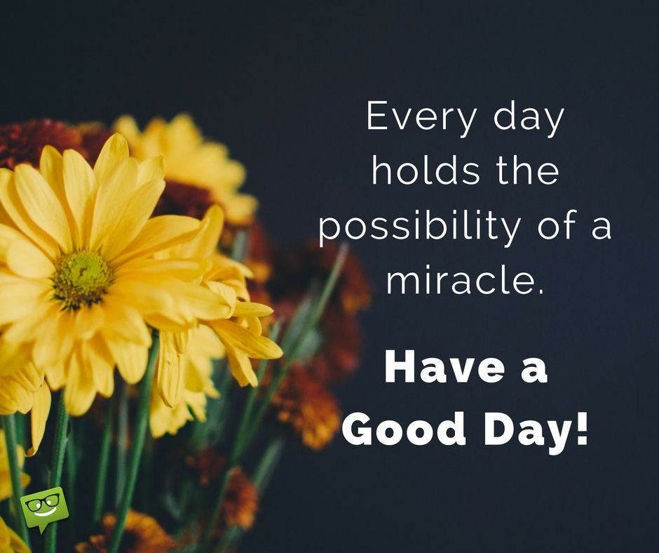 Image result for good morning miracle quotes