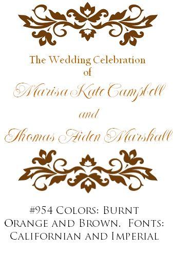 wedding program designs wedding ideas pinterest wedding