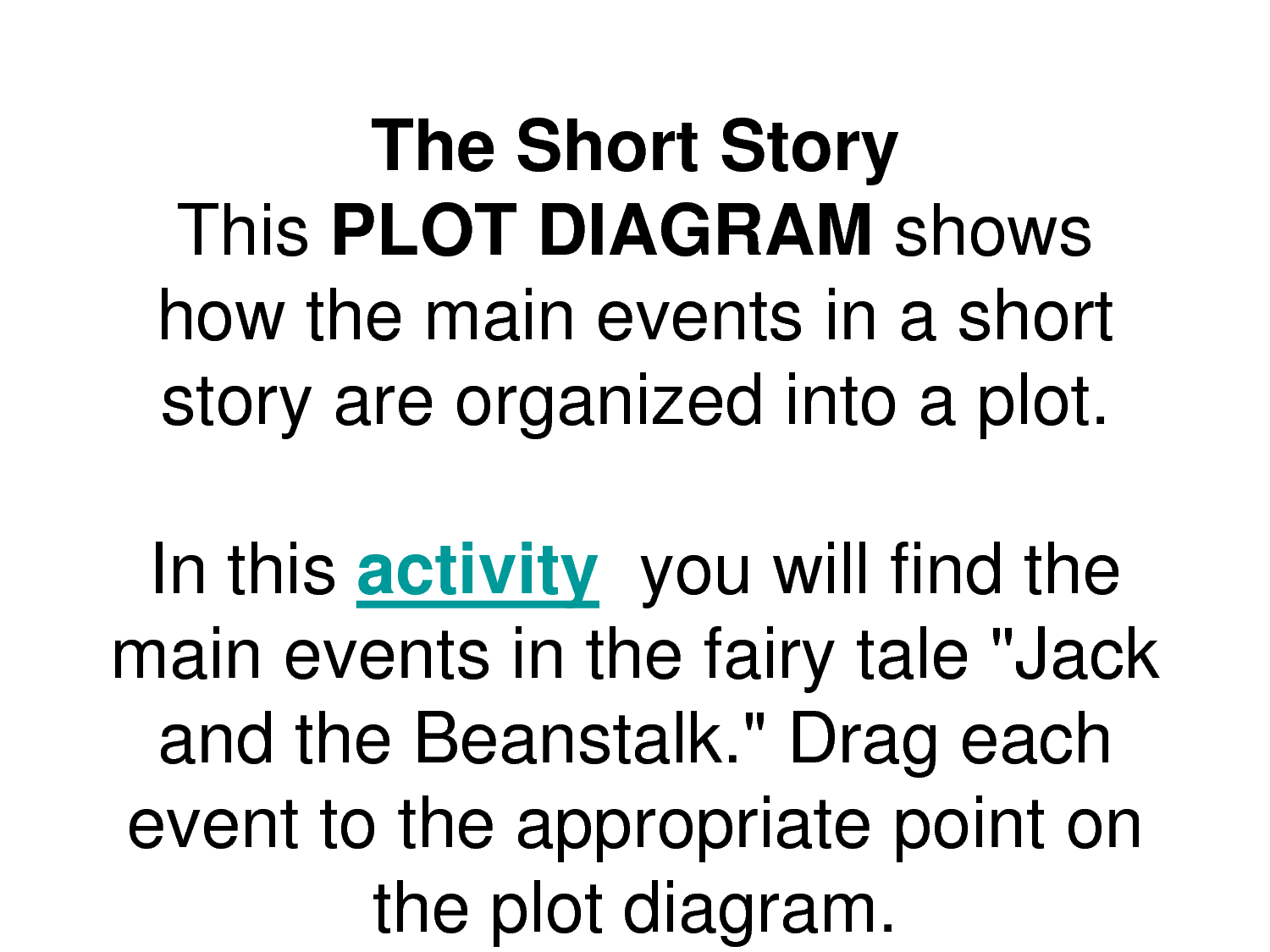 jack and the bean stalk plot structure diagram - yahoo image search results