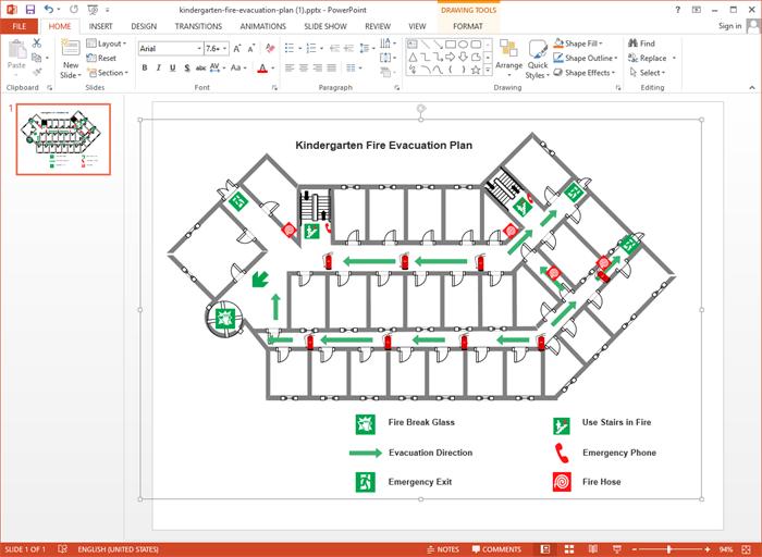 Kindergarten Fire Evacuation Plan Made By Edraw Max