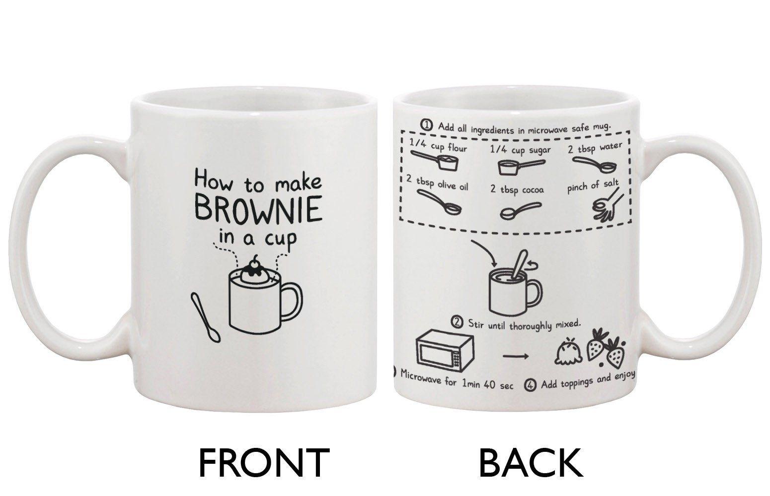 Cute Ceramic Coffee Mug How To Make Brownie In A Cup Cute