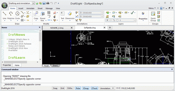 DraftSight Cracked - rich-featured cad application that
