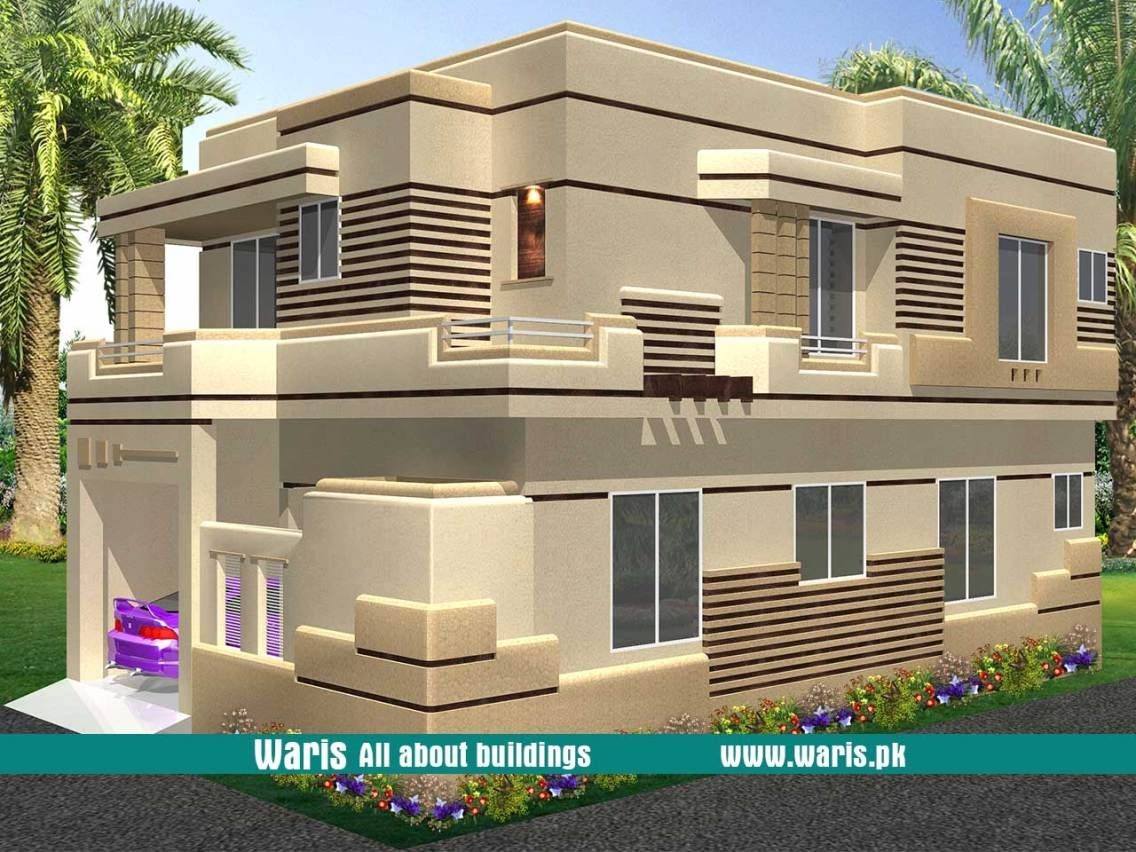 Waris House 3d View Elevation 30x45 In Gujranwala Cantt Pakistan House Architecture Design House Designs Exterior Architecture House