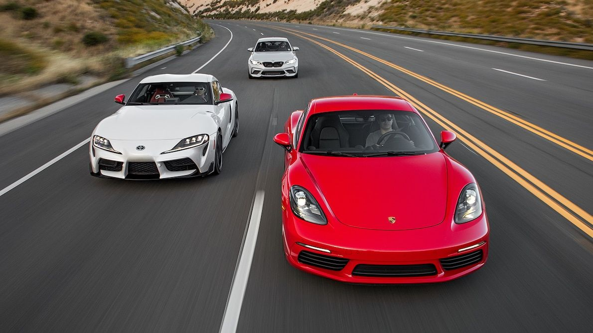 Toyota Supra Vs Porsche 718 Cayman Vs Bmw M2 Competition Which Is The Sports Car Champ Sports Car Toyota Supra Porsche 718 Cayman