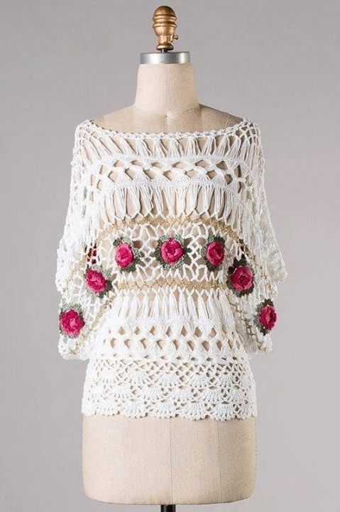 Horquilla | Blusas | Pinterest | Horca, Blusa elegante y Dos agujas