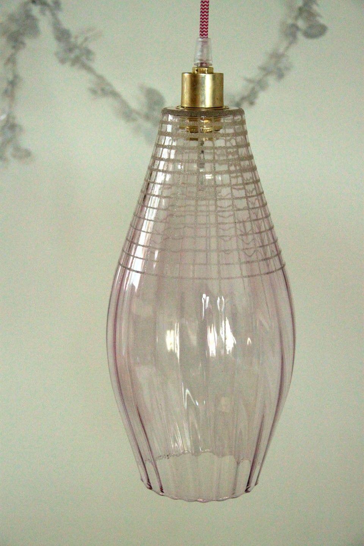 lustre suspension ancien luminaire abat