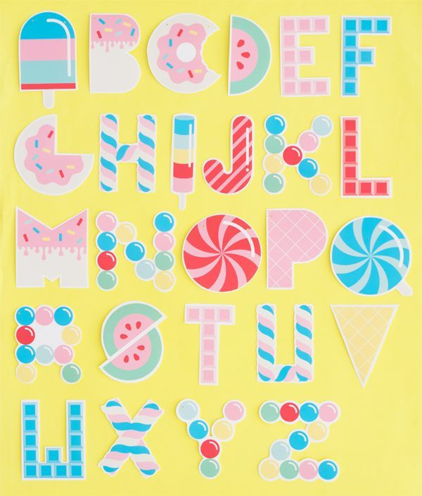 Free Printable Candy Letter Garland  Oh Happy Day  Diy  Crafts