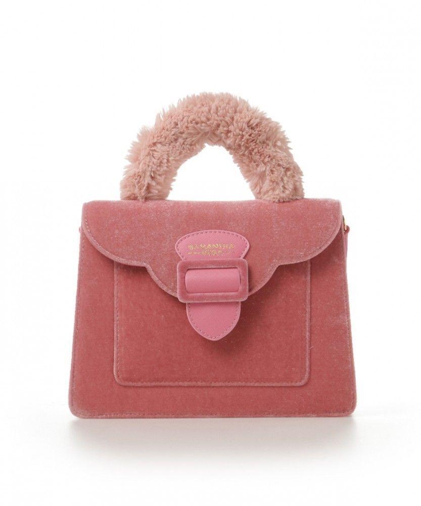 e773daf3be Samantha Vega Thavasa Fur Handle TWIGS Handbag Logo Shoulder Bag cx35 LARGE   SamanthaVega  TotesShoppers