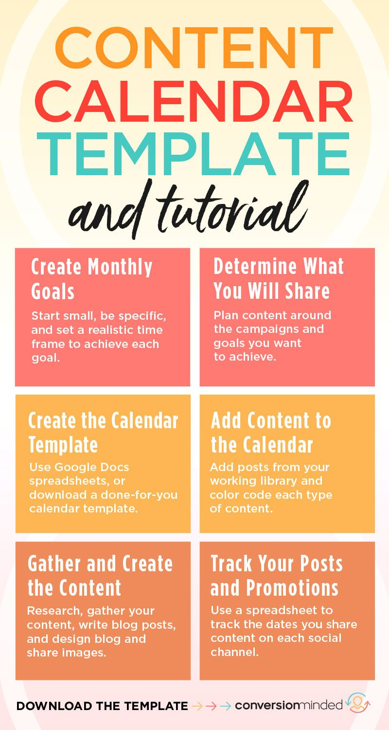 An Epic Social Media Content Calendar Template For 2020 With