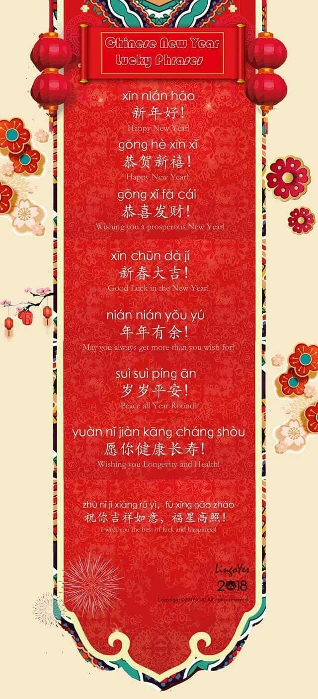 Diferentes Formas De Felicitar La Fiesta De La Primavera Learn Chinese Chinese Lessons Chinese Language