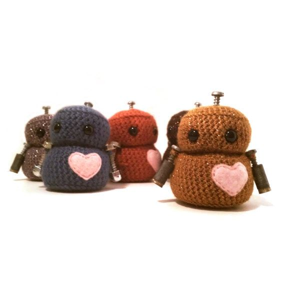 Adorabot  Crocheted Robot Choose your color by BotShop on Etsy, $18.00