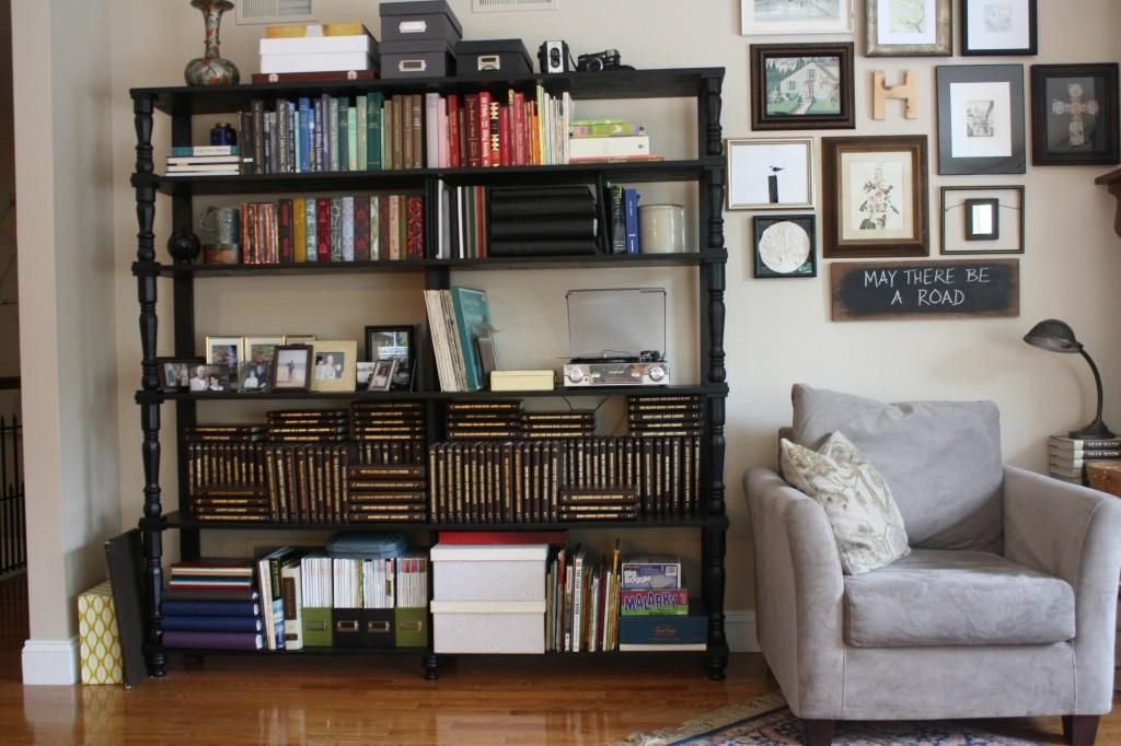 Love The Bookshelf And Adjacent Gallery Wall For The Living Room Can Use Some Shelves For Living Room Shelves Bookshelves In Living Room Living Room Bookcase