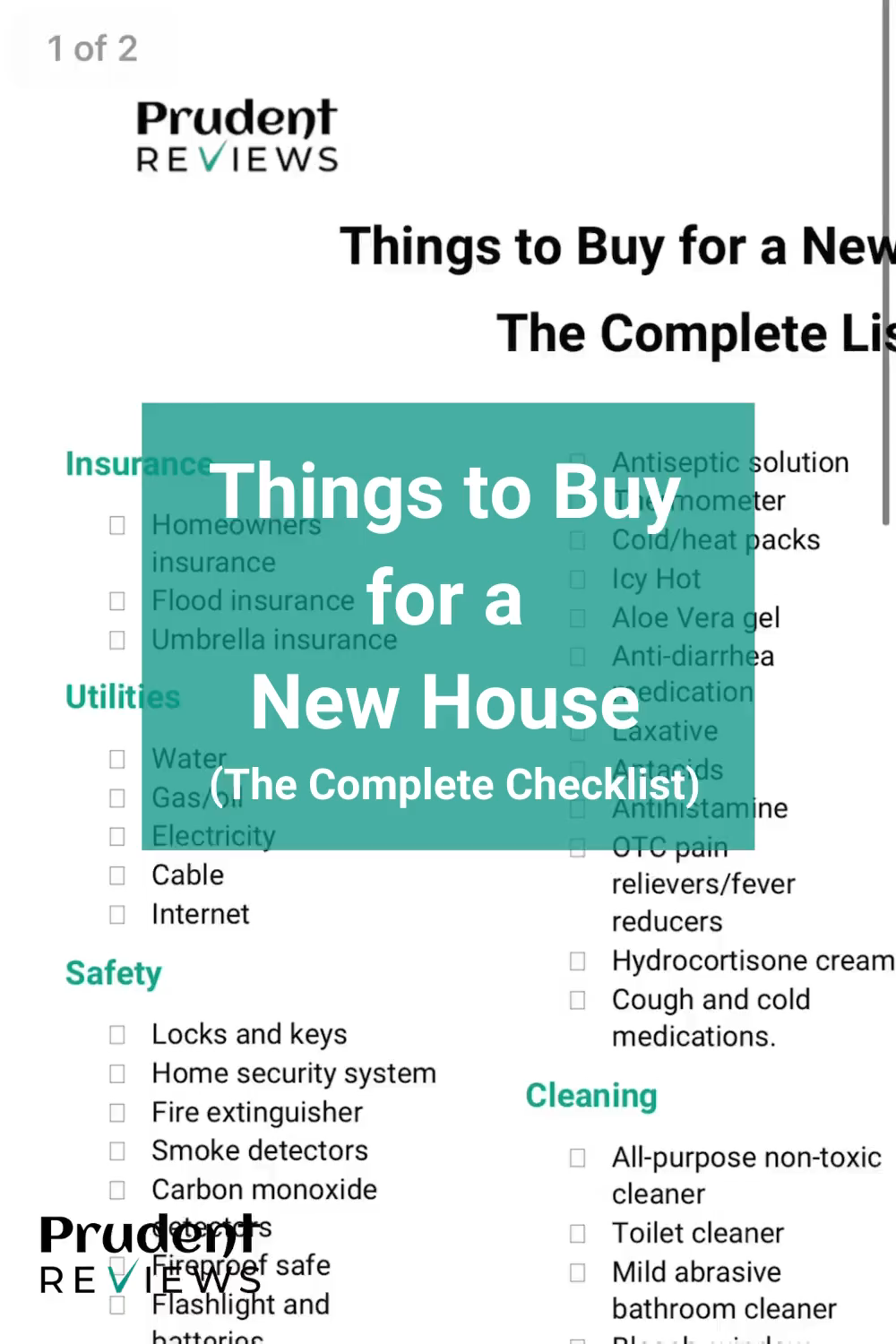 Now that you bought a new house, you're probably wondering:  What are the things I need to buy right now?  To make the process of moving in and getting set up much less stressful, I put together this comprehensive list of all the things you need to buy for a new house. This checklist is available to download as a PDF. All you have to do is click, print, and start shopping.