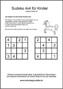 kinder - sudoku | kinderrätsel zum ausdrucken, kreuzworträtsel für kinder, rätsel für kinder