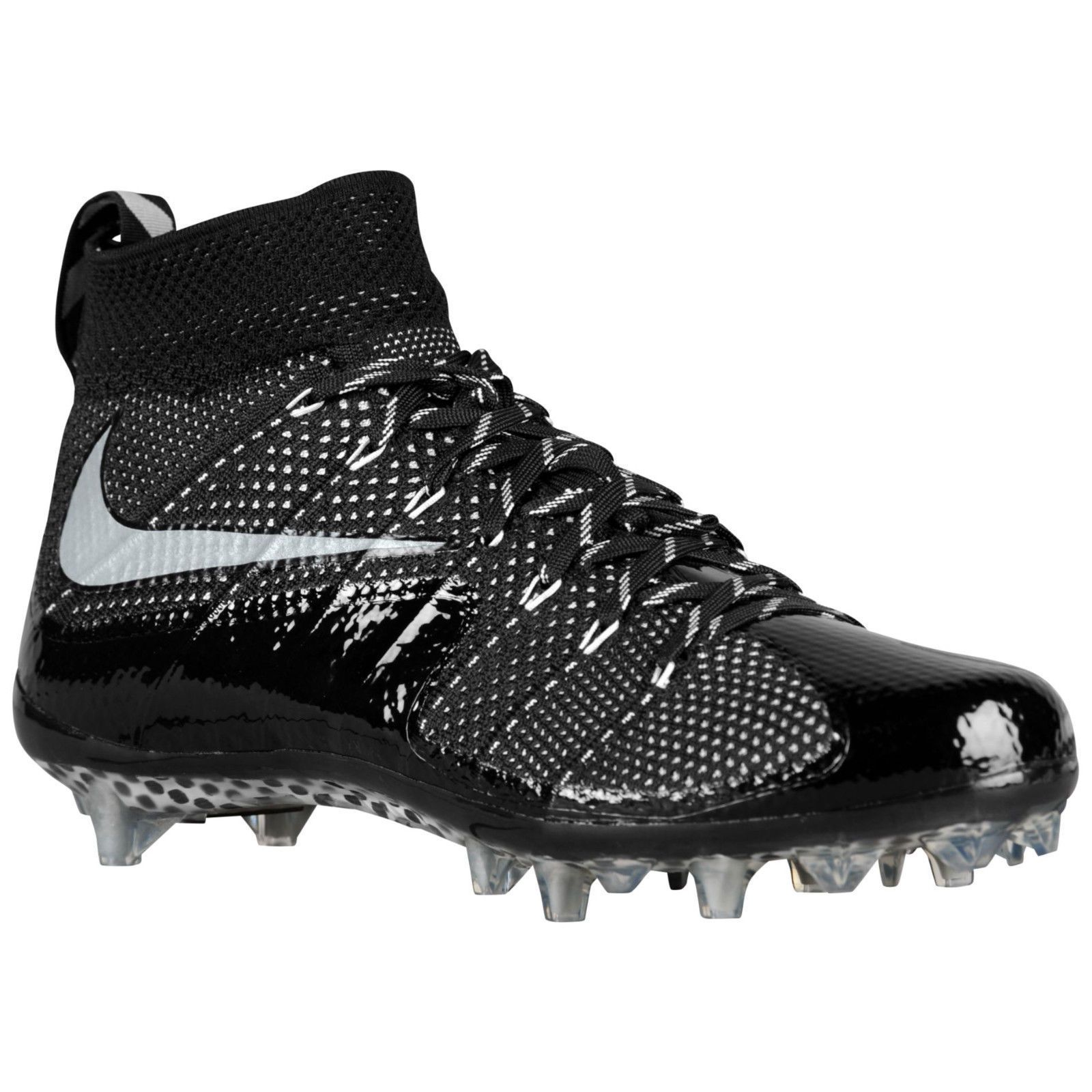 NIKE VAPOR UNTOUCHABLE TD FOOTBALL CLEATS BLACK/WHITE SIZE 12 NEW  (698833-010