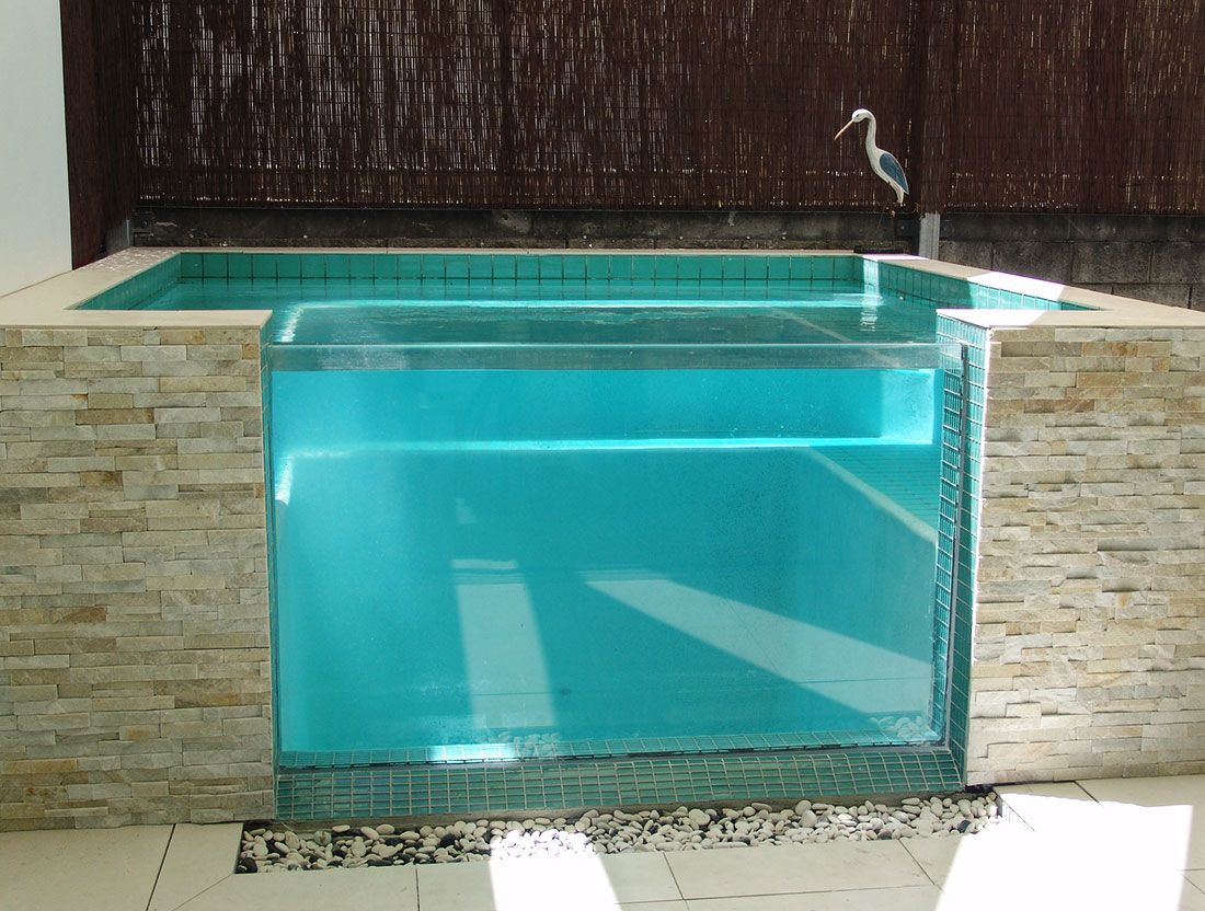 Acrylic Swimming Pool Window Aat Acrylics Garden Pool