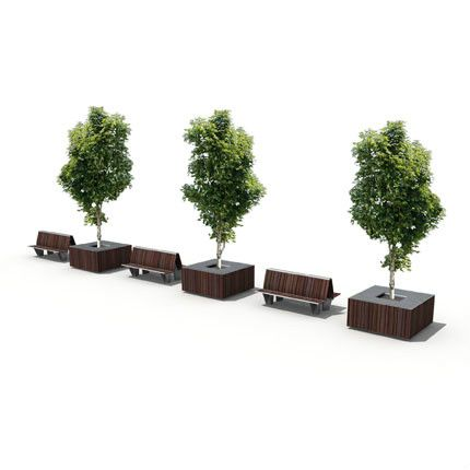 STREETLIFE Highlife Tree Tubs in combination with the Highlife