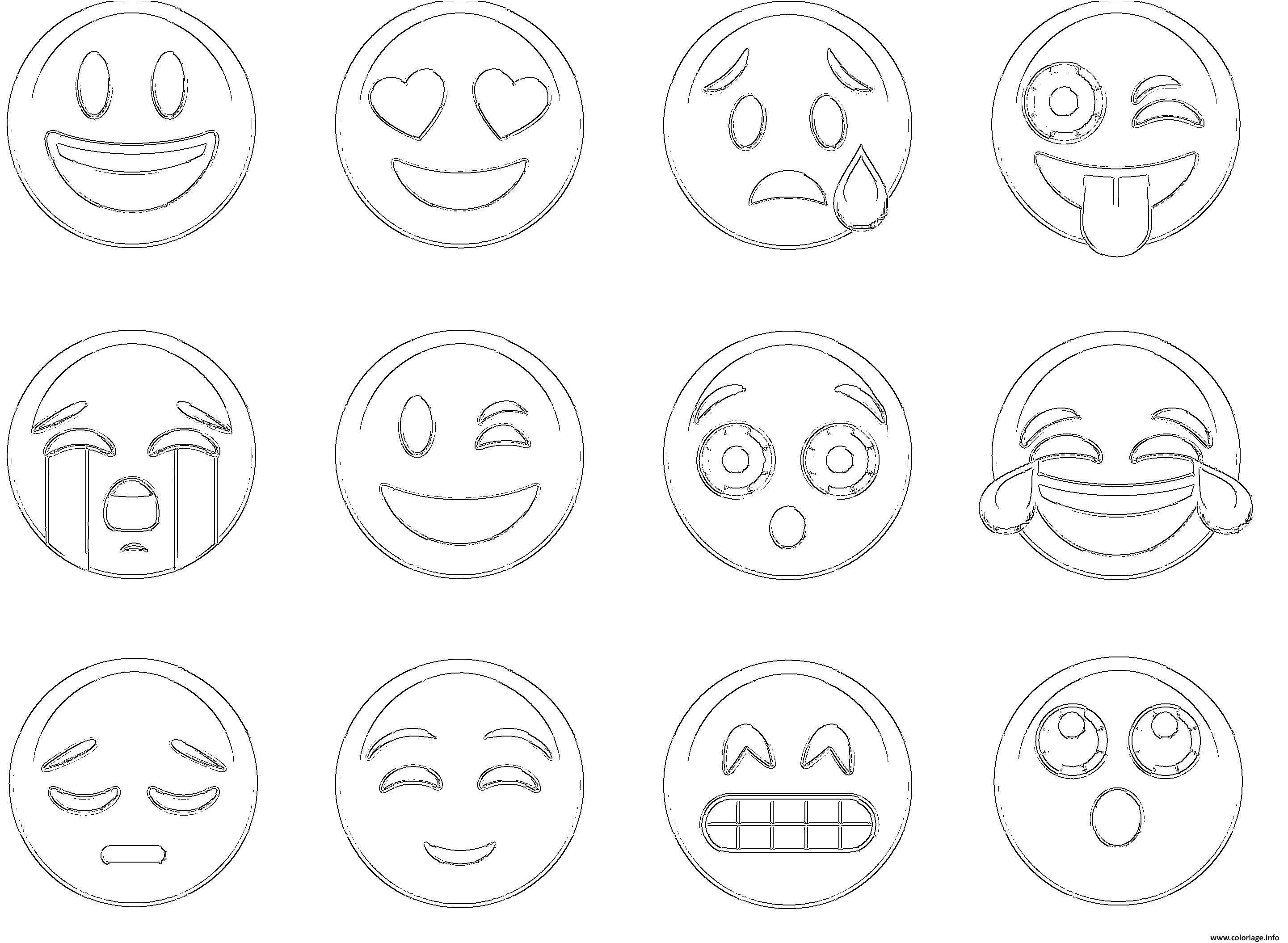 15 Le Meilleur Coloriage A Imprimer Emoji Photos Coloriage Emoji