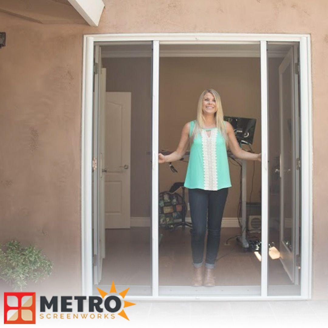 Genius French Retractable Screen Door Retractable Screen Door French Doors Door Design