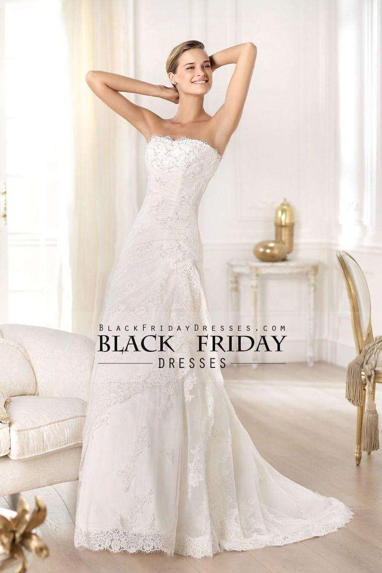 exceptional wedding dresses sheathcolumn strapless sweep train