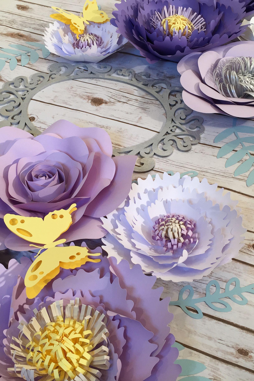 Large Paper Flowers Wall Decor Lilac Nursery Wall Art Purple Etsy Paper Flower Backdrop Wedding Paper Flower Backdrop Large Paper Flowers