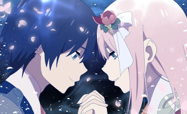 Hiro and Zero Two, by Maiko (Pixiv4702557) | Casal anime ...