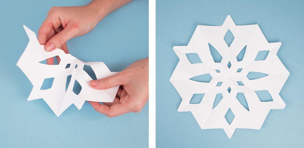 Flocons de neige en papier #floconsdeneigeenpapier