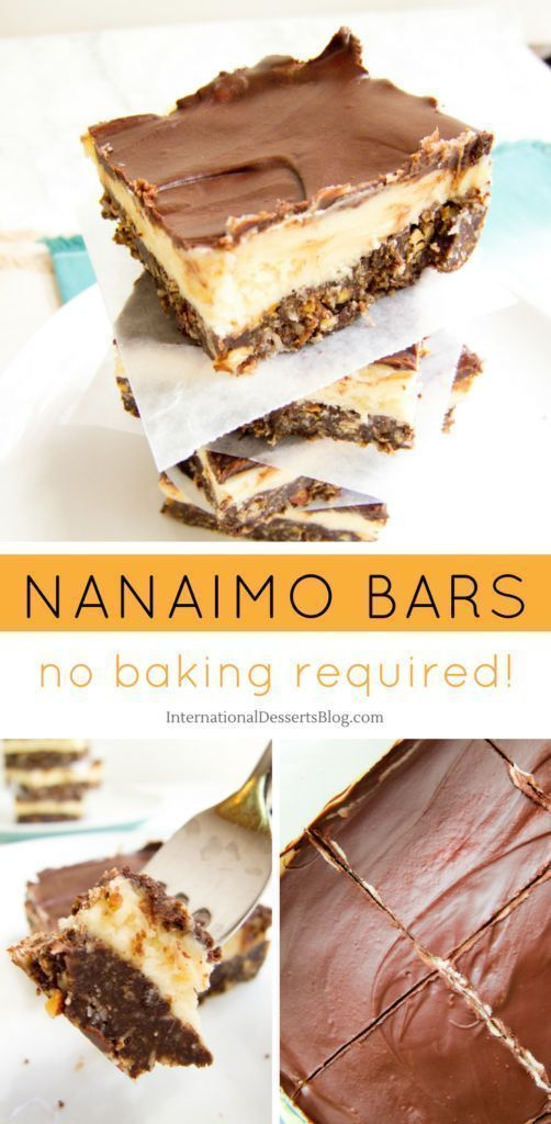 How to Make Nanaimo Bars (a Delicious Chocolate No-Bake Canadian Dessert) #nanaimobars